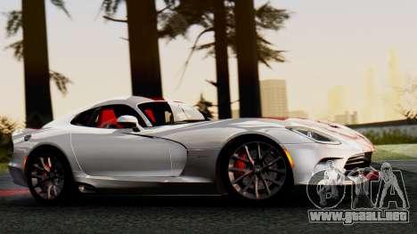 Dodge Viper SRT GTS 2013 IVF (MQ PJ) HQ Dirt para GTA San Andreas vista posterior izquierda