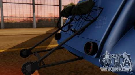Citroen 2CV (jian) Drag Style Edition para GTA San Andreas vista hacia atrás