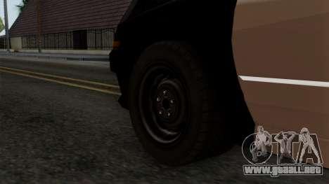 GTA 5 LS Police Car para GTA San Andreas vista posterior izquierda