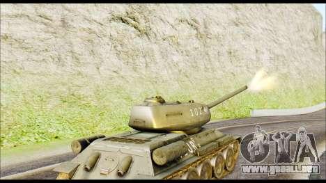 Real 102 Rudy Poland Tanks para GTA San Andreas vista posterior izquierda