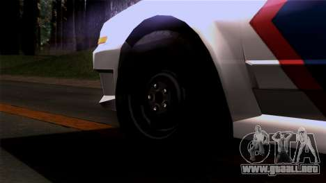 Indonesian Police Type 2 para GTA San Andreas vista posterior izquierda