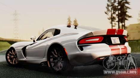 Dodge Viper SRT GTS 2013 IVF (MQ PJ) HQ Dirt para visión interna GTA San Andreas