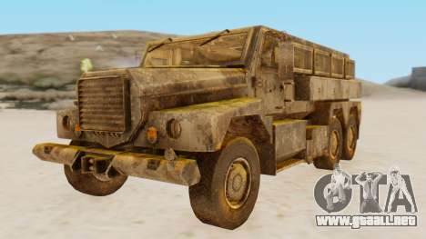 MRAP Cougar from CoD Black Ops 2 para GTA San Andreas