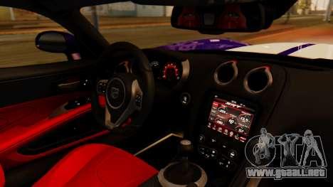 Dodge Viper SRT GTS 2013 IVF (HQ PJ) HQ Dirt para GTA San Andreas vista posterior izquierda