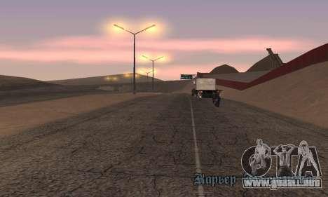 Las luces de San Fierro, Las Venturas para GTA San Andreas tercera pantalla