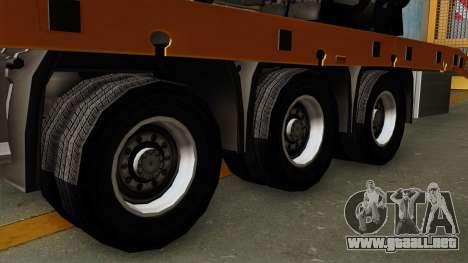 Trailer Fliegl Cargo para GTA San Andreas vista posterior izquierda