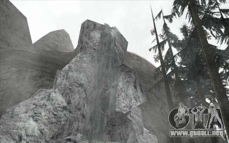 La cascada de v0.1 Beta para GTA San Andreas tercera pantalla