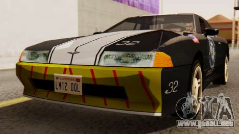 Elegy Police Edition para la visión correcta GTA San Andreas