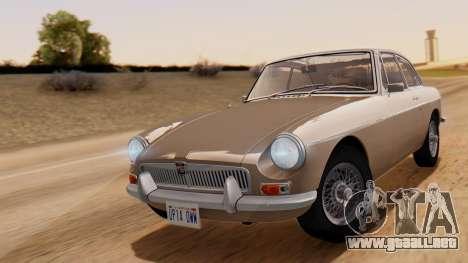 MGB GT (ADO23) 1965 HQLM para GTA San Andreas vista posterior izquierda