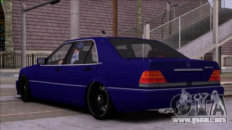 Mercedes-Benz S600 W140 para vista inferior GTA San Andreas