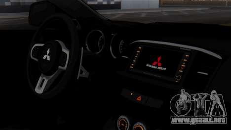 Mitsubishi Lancer Evo X Chinese Police para la visión correcta GTA San Andreas