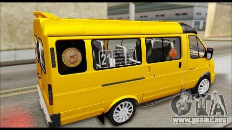 GAZelle 3221 De 2007 Final para GTA San Andreas vista posterior izquierda