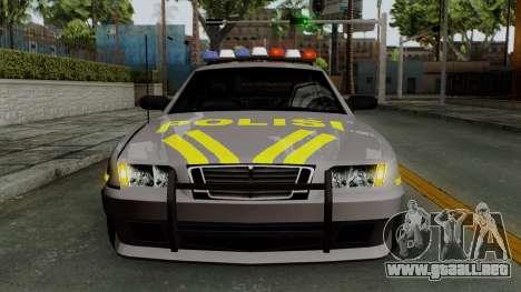 Indonesian Police Type 1 para la vista superior GTA San Andreas