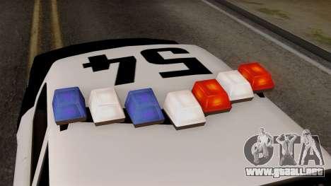 GTA 5 LS Police Car para GTA San Andreas vista hacia atrás