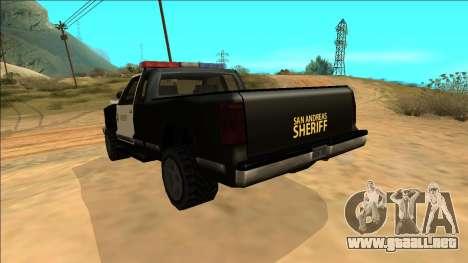New Yosemite Police v2 para vista inferior GTA San Andreas