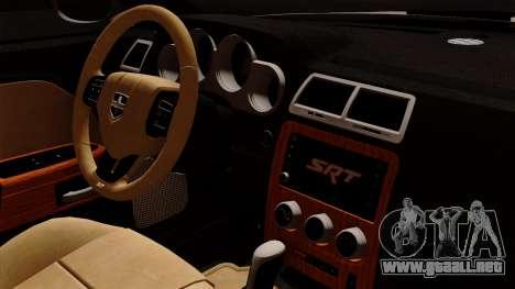 Dodge Challenger SRT8 392 2012 Stock Version 1.0 para la visión correcta GTA San Andreas