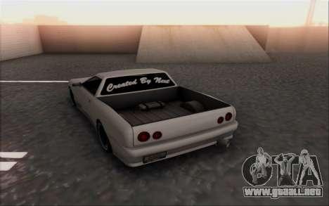 Elegy Pickup By Next para GTA San Andreas vista posterior izquierda