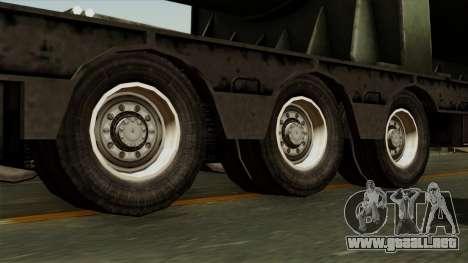 Trailer Cargos ETS2 New v3 para GTA San Andreas vista posterior izquierda