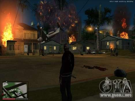Locura en el estado de San Andreas. La Beta. para GTA San Andreas sucesivamente de pantalla