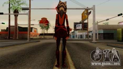 Ahsoka Tano Star Wars para GTA San Andreas tercera pantalla