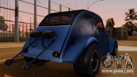 Citroen 2CV (jian) Drag Style Edition para GTA San Andreas left