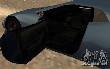GTA 3 Infernus SA Style v2 para visión interna GTA San Andreas