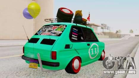 Fiat 126 bis B. O. de la Construcción para GTA San Andreas left