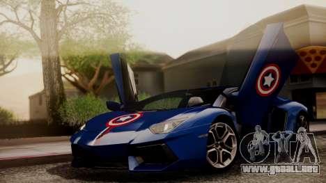 Lamborghini Aventador LP 700-4 Captain America para la vista superior GTA San Andreas