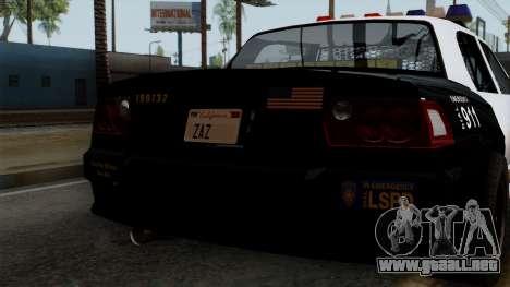 GTA 5 LS Police Car para visión interna GTA San Andreas
