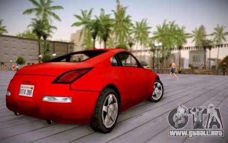 Nissan 350Z SA Style para GTA San Andreas left