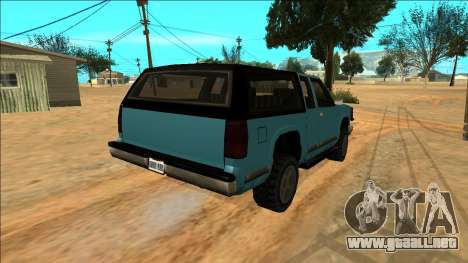 New Yosemite para vista lateral GTA San Andreas