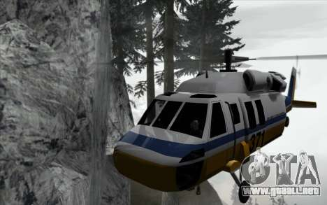 La cascada de v0.1 Beta para GTA San Andreas sucesivamente de pantalla