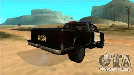 New Yosemite Police v2 para vista lateral GTA San Andreas