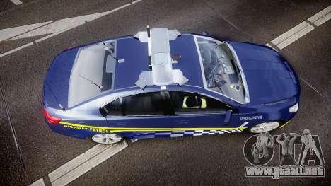 Holden VF Commodore SS Highway Patrol [ELS] v2.0 para GTA 4 visión correcta