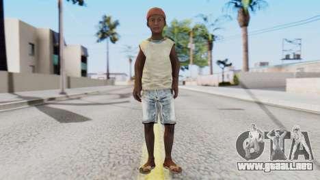 African Child para GTA San Andreas segunda pantalla