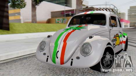Volkswagen Beetle Vocho Nyan Cat V Mexicano para GTA San Andreas