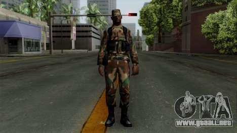 El Africano soldado Estadounidense en el camufla para GTA San Andreas segunda pantalla