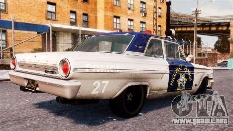 Ford Fairlane 1964 Police para GTA 4 left