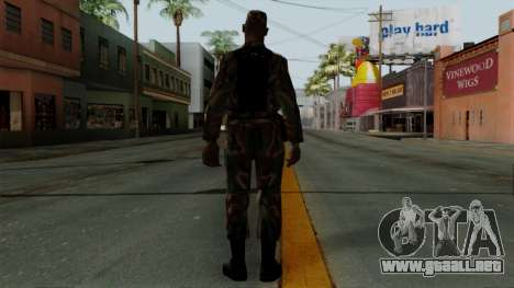 El Africano soldado Estadounidense en el camufla para GTA San Andreas tercera pantalla