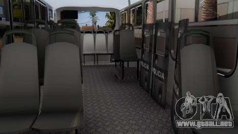 Mercedes-Benz Neobus Paraguay National Police para GTA San Andreas vista hacia atrás