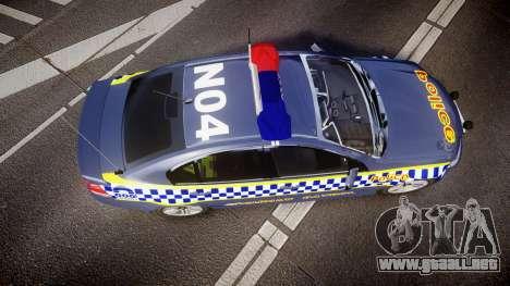 Holden VE Commodore SS Highway Patrol [ELS] v2.1 para GTA 4 visión correcta