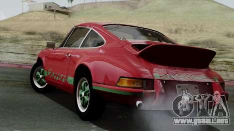 Porsche 911 Carrera RS 2.7 Sport (911) 1972 IVF para GTA San Andreas left