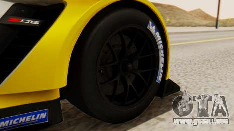 Chevrolet Corvette C7R GTE 2014 PJ2 para GTA San Andreas vista posterior izquierda