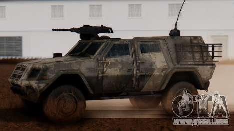 BAE Systems JLTV Extra Skin para GTA San Andreas left