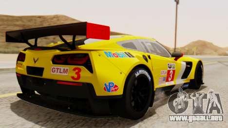 Chevrolet Corvette C7R GTE 2014 PJ2 para GTA San Andreas left