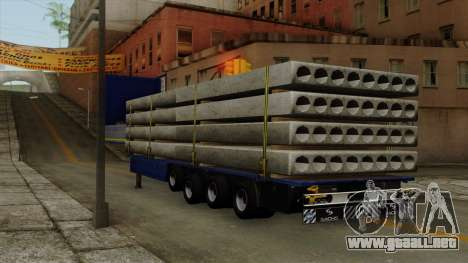 Flatbed3 Yellow para GTA San Andreas left