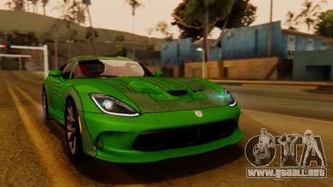 Dodge Viper SRT GTS 2013 IVF (HQ PJ) HQ Dirt para vista lateral GTA San Andreas