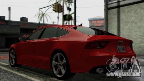 Audi RS7 2014 para GTA San Andreas vista hacia atrás
