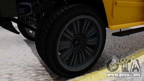 GTA 5 Patriot para GTA San Andreas vista posterior izquierda