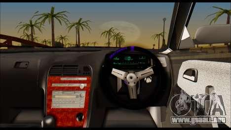 Toyota Mark 2 JZX 100 para GTA San Andreas vista posterior izquierda